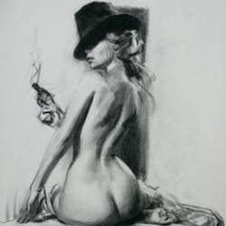 cigarettes after sex, 10 x 15 inch, ankita sharma,drawings,art deco drawings,paintings for living room,thick paper,charcoal,10x15inch,GAL042449647