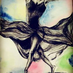 dancing darling, 10 x 15 inch, ankita sharma,drawings,abstract expressionist drawings,paintings for living room,thick paper,charcoal,10x15inch,GAL042449650