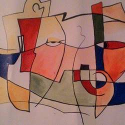 reflection, 16 x 23 inch, arjun mc,paintings,modern art paintings,paintings for living room,thick paper,acrylic color,16x23inch,GAL042319655