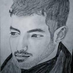 joe jonas sketch (handsome joe jonas), 8 x 12 inch, lalita ray,drawings,figurative drawings,paintings for bedroom,paper,pencil color,8x12inch,GAL042589694
