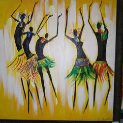 dancing africans, 24 x 24 inch, payal tripathi,abstract paintings,paintings for living room,folk art paintings,paintings for dining room,paintings for bedroom,paintings for office,paintings,contemporary paintings,children paintings,paintings for bathroom,paintings for kids room,paintings for hotel,paintings for kitchen,paintings for school,paintings for hospital,canvas,acrylic color,24x24inch,GAL042559706