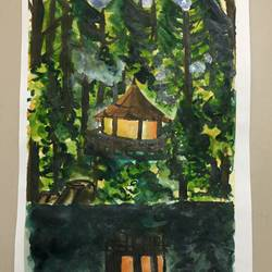 the colour of nature, 7 x 11 inch, srinidhi srinivasan,nature paintings,paintings for living room,thick paper,watercolor,7x11inch,GAL042719725Nature,environment,Beauty,scenery,greenery