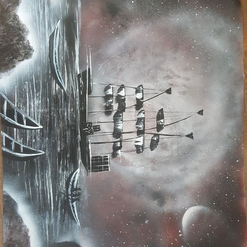 surreal dream, 38 x 29 inch, mehak dhir,paintings,landscape paintings,paintings for living room,canvas,acrylic color,38x29inch,GAL042809744
