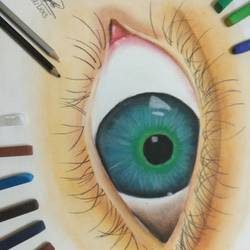 d eye, 12 x 17 inch, khushal  gehlot ,photorealism paintings,paintings for bedroom,drawing paper,pastel color,12x17inch,GAL043029780