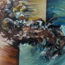 whirlpool, 22 x 16 inch, tripati dey,paintings,abstract paintings,paintings for living room,canvas,acrylic color,22x16inch,GAL042189799