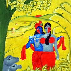 radha krishna love 3, 30 x 30 inch, chetan katigar,figurative paintings,religious paintings,paintings for living room,modern art paintings,conceptual paintings,radha krishna paintings,love paintings,canvas,mixed media,30x30inch,GAL0266980heart,family,caring,happiness,forever,happy,trust,passion,romance,sweet,kiss,love,hugs,warm,fun,kisses,joy,friendship,marriage,chocolate,husband,wife,forever,caring,couple,sweetheart