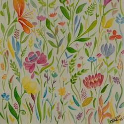 pattern garden, 10 x 13 inch, esha lal,paintings,flower paintings,paintings for bedroom,renaissance watercolor paper,watercolor,10x13inch,GAL043259820