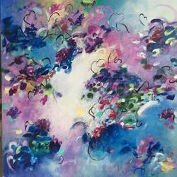 fragrance of colours, 24 x 24 inch, pooja yadav,paintings,abstract paintings,paintings for bedroom,canvas,acrylic color,24x24inch,GAL08509826