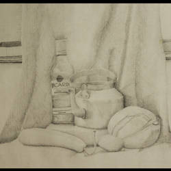 still life sketch 1216, 12 x 19 inch, vishal dhiman,modern drawings,paintings for bedroom,cartridge paper,graphite pencil,12x19inch,GAL043339838