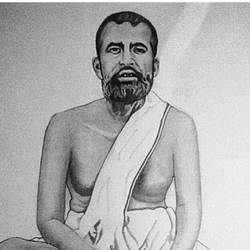 sri ramakrishna paramahansa, 11 x 15 inch, shivkumar  menon,drawings,portrait drawings,paintings for living room,paper,graphite pencil,11x15inch,GAL09869936