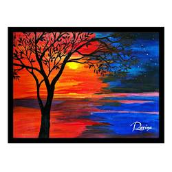 ,  wall art , online  frame, 12 x 17 inch, ravina patil,paintings,nature paintings,paintings for living room,canvas,acrylic color,12x17inch,GAL043779958Nature,environment,Beauty,scenery,greenery