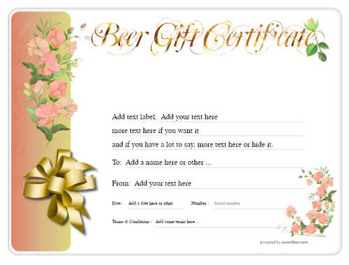beer    gift certificate style8 red template image-200 downloadable and printable with editable fields