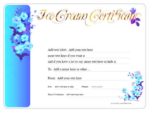 ice cream   gift certificate style8 blue template image-255 downloadable and printable with editable fields