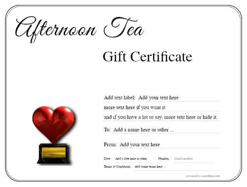 afternoon tea  gift certificate style1 default template image-80 downloadable and printable with editable fields
