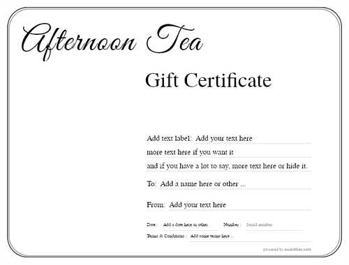afternoon tea  gift certificate style1 default template image-81 downloadable and printable with editable fields