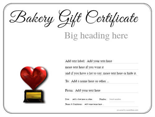 bakery gift certificate style1 default template image-158 downloadable and printable with editable fields
