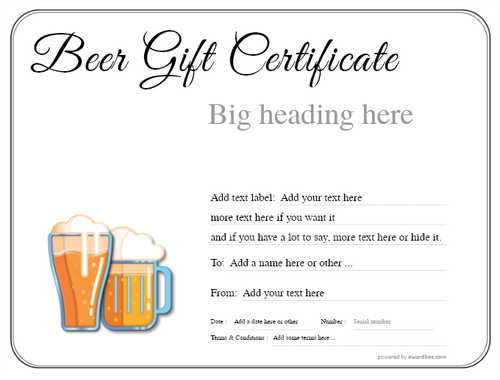 beer    gift certificate style1 default template image-184 downloadable and printable with editable fields