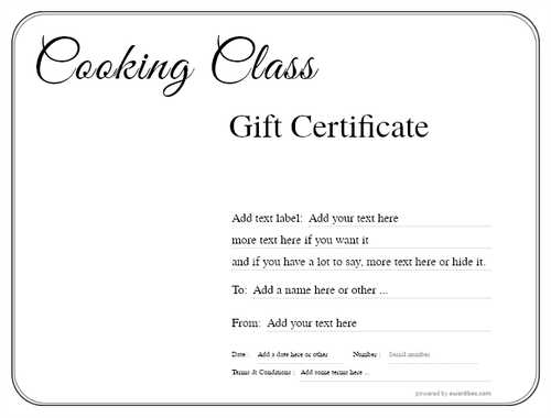 cooking class gift certificate style1 default template image-211 downloadable and printable with editable fields