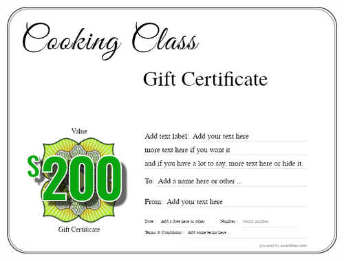 cooking class gift certificate style1 default template image-212 downloadable and printable with editable fields
