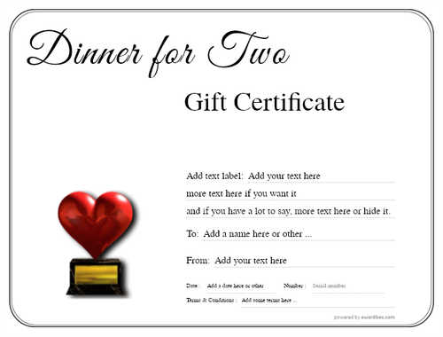 dinner for two gift certificate style1 default template image-106 downloadable and printable with editable fields