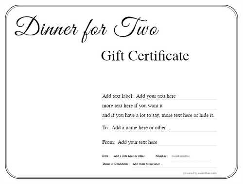 dinner for two gift certificate style1 default template image-107 downloadable and printable with editable fields