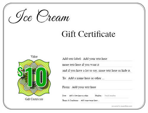 ice cream   gift certificate style1 default template image-238 downloadable and printable with editable fields