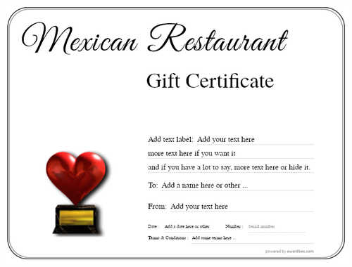 mexican restaurant gift certificates style1 default template image-27 downloadable and printable with editable fields