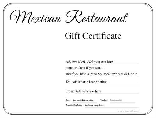 mexican restaurant gift certificates style1 default template image-28 downloadable and printable with editable fields