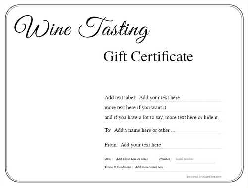 wine tasting gift certificate style1 default template image-263 downloadable and printable with editable fields