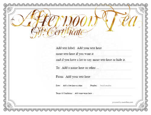 afternoon tea  gift certificate style4 default template image-87 downloadable and printable with editable fields