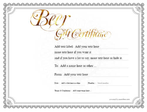 beer    gift certificate style4 default template image-191 downloadable and printable with editable fields