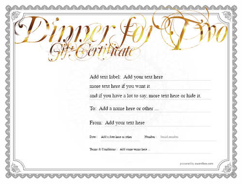 dinner for two gift certificate style4 default template image-113 downloadable and printable with editable fields