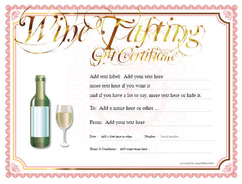 wine tasting gift certificate style4 red template image-268 downloadable and printable with editable fields