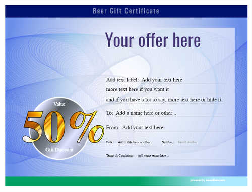 beer    gift certificate style6 blue template image-194 downloadable and printable with editable fields