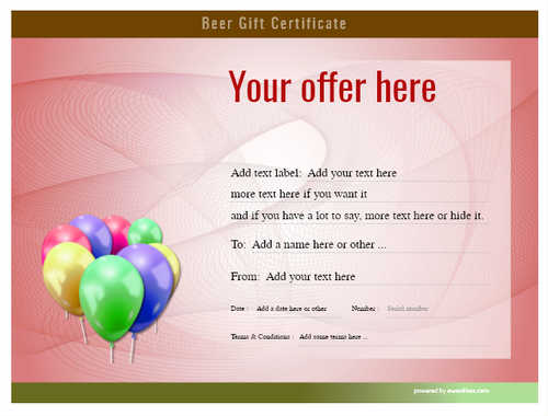 beer    gift certificate style6 red template image-195 downloadable and printable with editable fields
