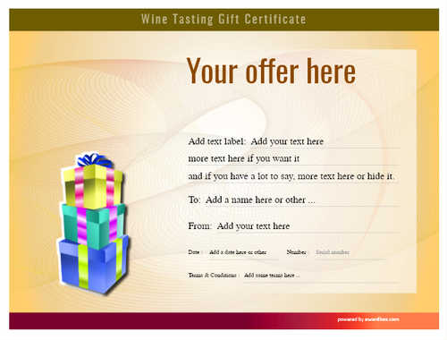 wine tasting gift certificate style6 yellow template image-271 downloadable and printable with editable fields