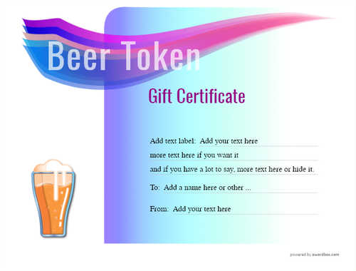 beer    gift certificate style7 blue template image-199 downloadable and printable with editable fields