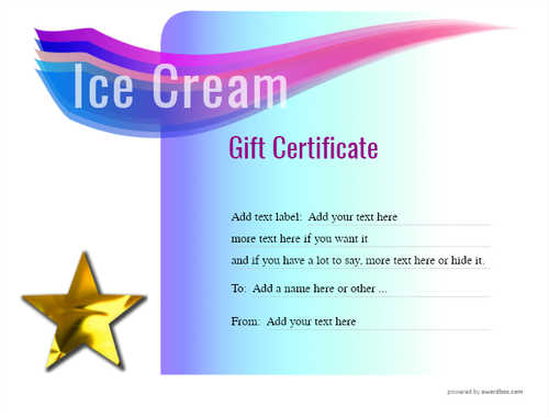 ice cream   gift certificate style7 blue template image-251 downloadable and printable with editable fields