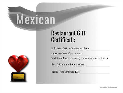 mexican restaurant gift certificates style7 default template image-39 downloadable and printable with editable fields