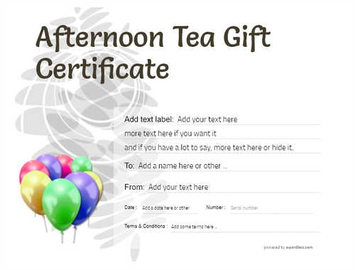 afternoon tea  gift certificate style9 default template image-102 downloadable and printable with editable fields