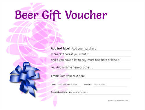 beer    gift certificate style9 purple template image-204 downloadable and printable with editable fields