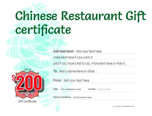 chinese restaurant gift certificate style9 green template image-77 downloadable and printable with editable fields