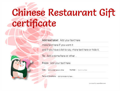 chinese restaurant gift certificate style9 red template image-75 downloadable and printable with editable fields