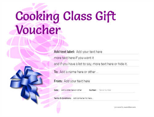 cooking class gift certificate style9 purple template image-230 downloadable and printable with editable fields