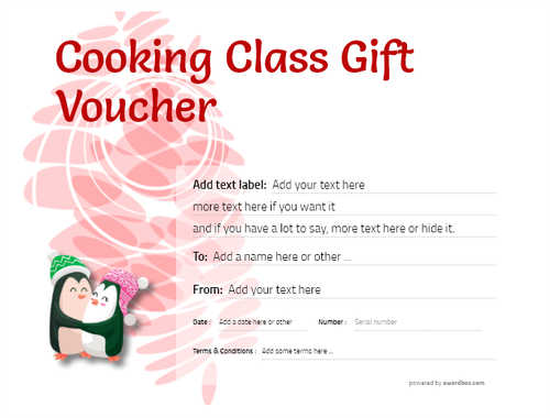 cooking class gift certificate style9 red template image-231 downloadable and printable with editable fields