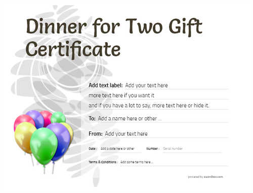 dinner for two gift certificate style9 default template image-128 downloadable and printable with editable fields