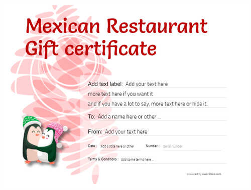 mexican restaurant gift certificates style9 red template image-48 downloadable and printable with editable fields