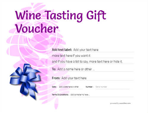 wine tasting gift certificate style9 purple template image-282 downloadable and printable with editable fields