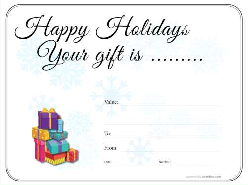 snowflake and christmas gift template parcel design template for free home printing add a photo