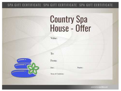 hot stone massage spa treatment design, free gift certificate template with fillable text and customizable backgrounds
